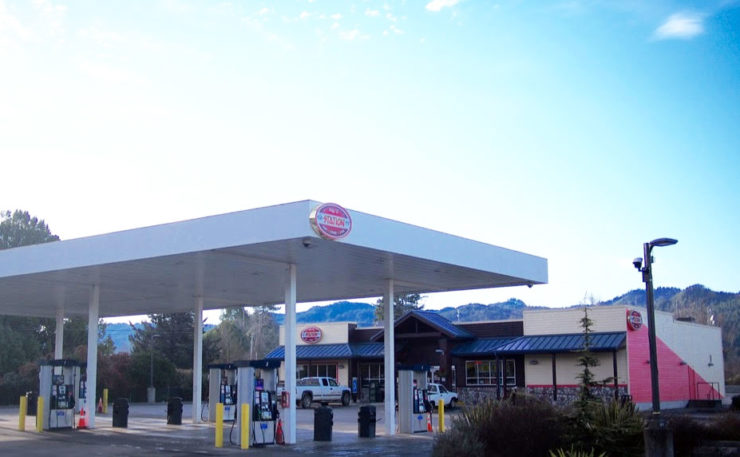 The BLR gas station and store.
