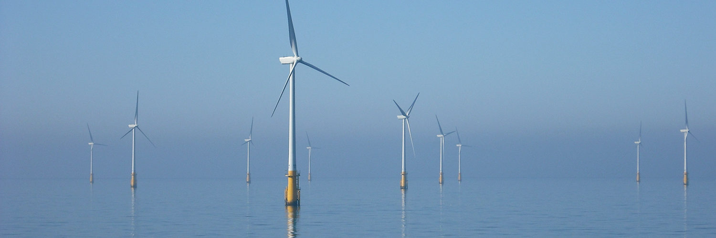 An offshore wind farm off Barrow, Ireland