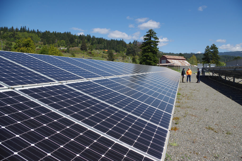 Microgrid solar array with engineers