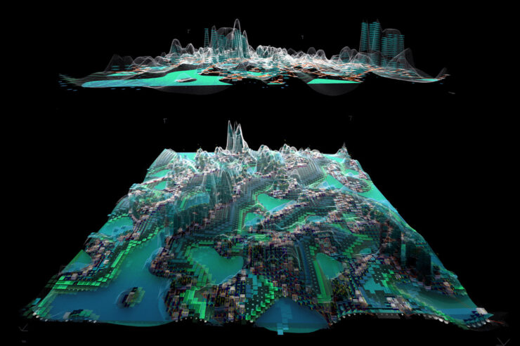 3D simulation of an ecological superblock
