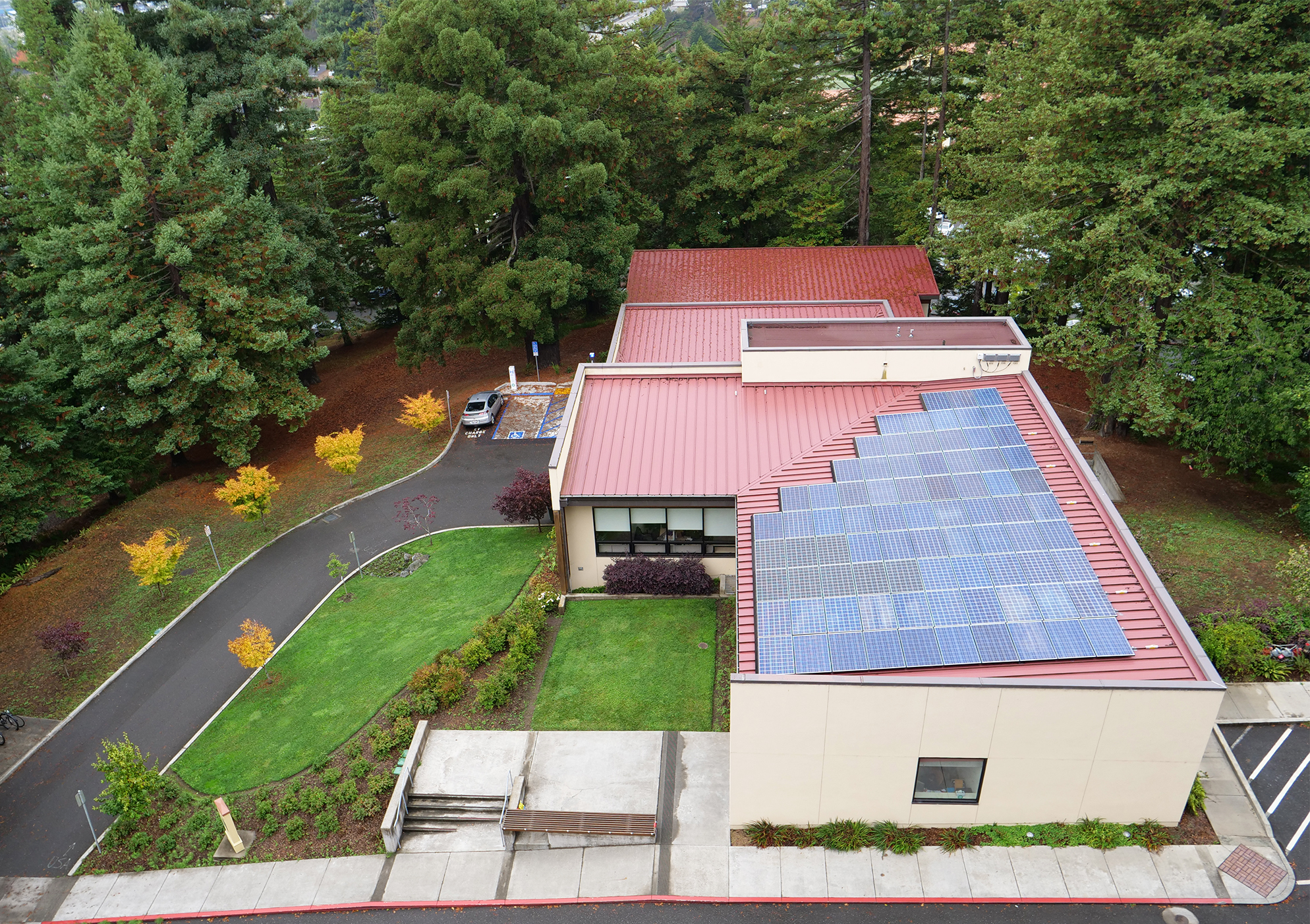 Overhead view of Schatz Center facilities