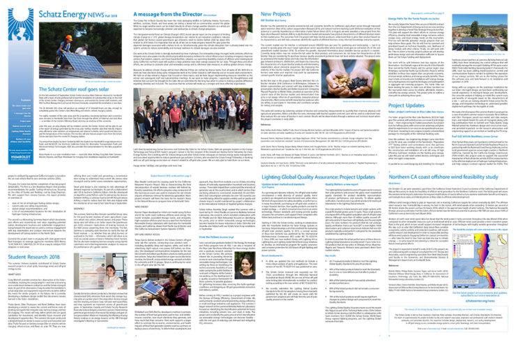A composite image of newsletter pages.