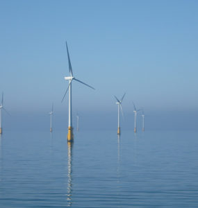 An offshore wind farm off Barrow, Ireland