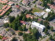 Aerial of HSU shows the Schatz Center and surrounding buildings