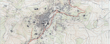 Historical topographical map of Nazareth from a Survey of Palestine